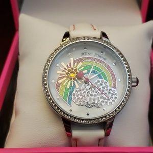 Betsey Johnson Accessories - Betsey Johnson sunshine daydream rainbow white